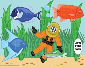 tropical fish and coral reef illustrations ocean clip Sea Shell Clip Art Nautilus Shell Clip Art