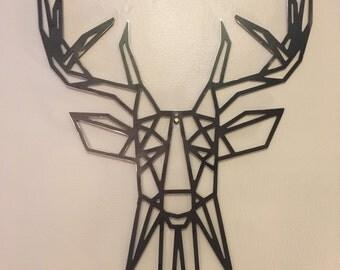 Geometric Deer Metal Wall Art