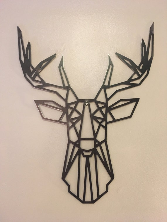 Geometric Metal Wall Decor : Geometric deer metal wall art