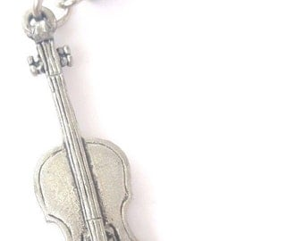 Cello Handcrafted from Solid Pewter In the UK Key Ring