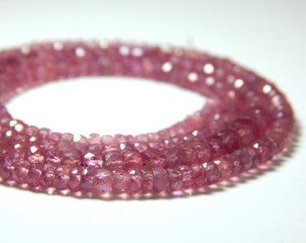 70%OFF Glass Filling Ruby Faceted Rondelle Beads 100 Percent Natural Gemstone Size 3.3x5 mm Approx.