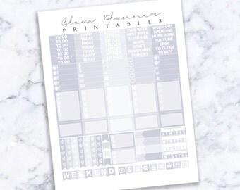Printable Planner Stickers: 22 (Erin Condren Life Planner PDF)