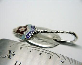 Leicester Enamel Silver Spoon Money Clip