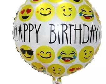 Emoji Happy Birthday Mylar