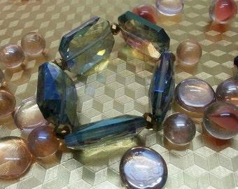 Amethyst Five Gem Stretch Bracelet
