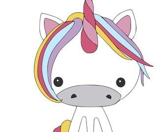 Unicorn - svg, pdf, png file