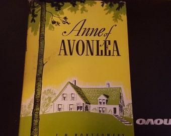 Anne of Avonlea 1969 printing