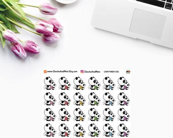 Amanda The Panda ~ SCHOOL RUN Time Planner Stickers CAM Panda 022