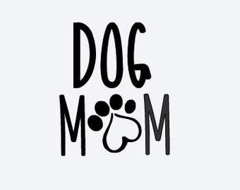 Rescue Mom Decal - Dog Mom Decal - Yeti Decal - Paw Print Decal - Rescue