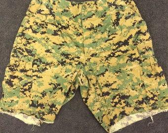 Vintage Digi-Camo Cutoff Cargo Shorts