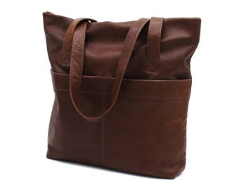 Leather Tote Bag Laptop Bag Leather Handbag Shoulder Bag JoyToken®