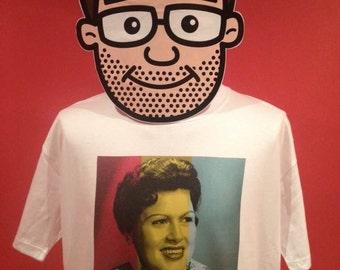 Patsy Cline / Crazy / Country Music T-Shirt - White Shirt