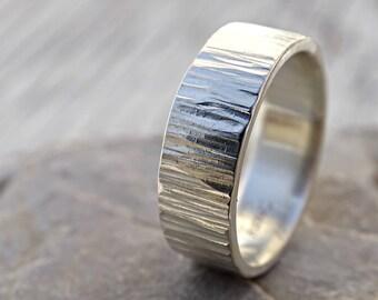 wide mens ring mens wedding band proposal ring silver wedding ring for him - Wedding Ring For Him