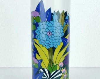 fantastic 1960s 70s arzberg op art pop art VASE psychedelic flowers