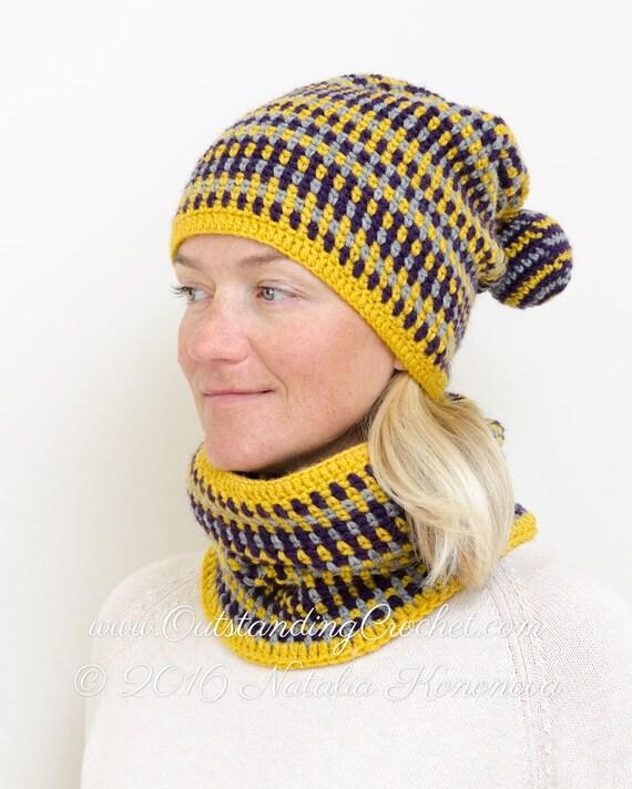 Crochet Cowl Pattern - Crochet Beanie Hat and Scarf Set ...
