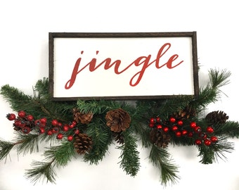 Jingle Handcrafted Wooden Christmas Sign