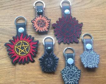 Supernatural inspired key fob