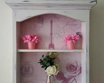 Wall shelf, cabinet, shabby chic, display unit