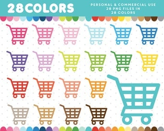 Shopping cart clipart, Grocery cart clipart, Trolley clipart, Shopping cart icon, Shopping cart graphics, Commercial License, CL-330