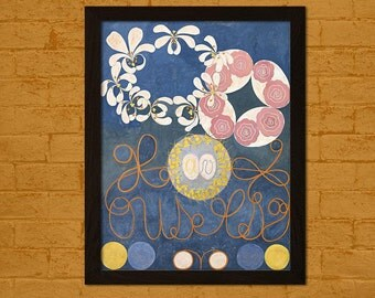 FINE ART REPRODUCTION The Ten Largest, No. 1 1907 Hilma af Klint Print Housewarming Gift Idea Klint Poster Hilma Poster
