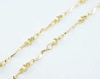 New Gold Filled Chain 18K Size 2x2mm for Jewelry Making GFC58 Sold by Foot