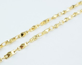 New Gold Filled Chain 18K Size 3x2.5mm for Jewelry Making GFC53 Sold by Foot