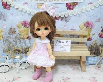 Dress for doll ( lati yellow )