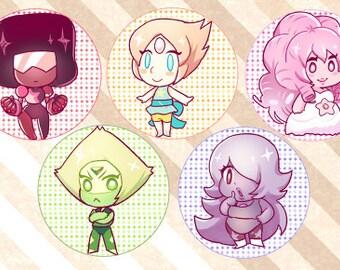 Steven Universe Gems Buttons (3)
