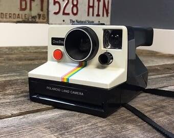 Polaroid Rainbow Stripe Land Camera