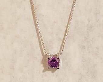 Amethyst pendant necklace.