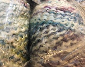 Lion Brand Homespun color TUDOR blue/cream/lavender variegated Matched Skeins same dye lot Acrylic Blend MILL ENDS 1 pound