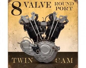 8 Valve Round Port