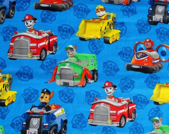 fat quarter PAW PATROL 100% rubble spin master   Character Cotton Fabric david textiles