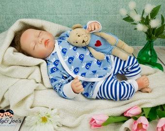 Babyset boys whale newborn set pants jacket