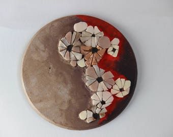 Table, wall sculpture, mosaic, painting, HANAE 10