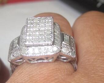V-17  Vintage Ring 925  silver size 7