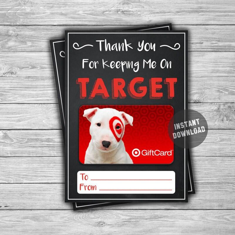 printable target gift card holder thank you instant download. Black Bedroom Furniture Sets. Home Design Ideas
