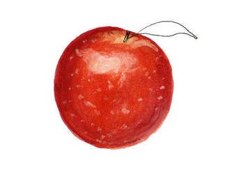 Post my Apple • squirt on natural cotton paper