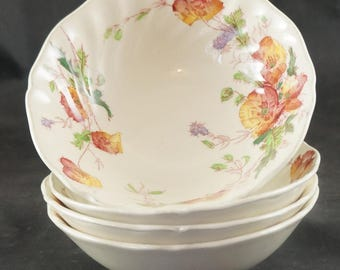 Royal Doulton Lot of 4 Oatmeal Bowls in the Sherborne Pattern