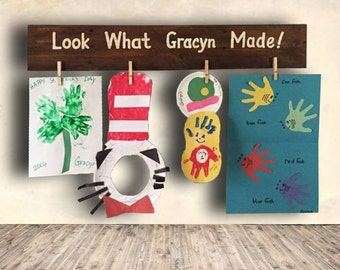 Look What I Made - Art Display Board - Kids Drawing - Children's Art Display - Kids Wall Decor Names - Look What Made Sign - Back to School
