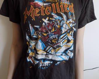 BIG July SALE!!Free shipping!! Vintage RARE Metallica T-shirt