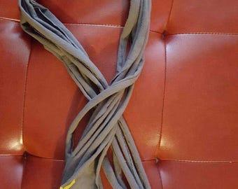 Handmade repurposed tshirt scarf