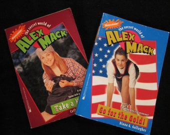 Vintage Books • 90s Books • Secret World of Alex Mack Paperback Books 7 8 • 90s Nickelodeon TV Show 90s Pop Culture • Vintage Series Books