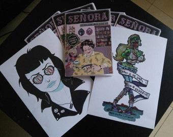 Fanzine Mrs., talk about feminism. Miss, Talk about feminisms Feminism feminist zine illustration