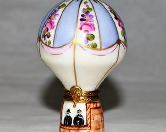 Limoges Box *Hot Air Balloon* Numbered 243/300 - Signed - Peint Main - France