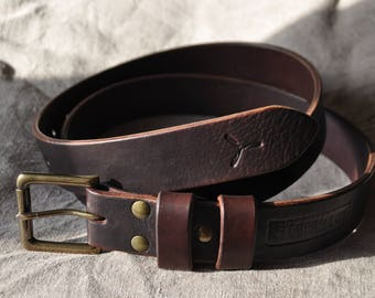 38 mm. Long Buffalo leather belt