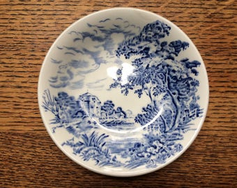 "Antique Wedgwood Blue & White ""Countryside"" 5in. bowl"