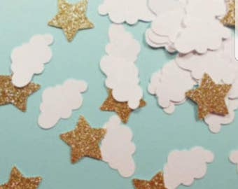 Clouds and Stars Confetti