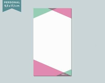 "Notepad ""geometric"" 50 sheets - Filofax personal"