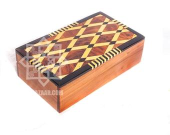 Thuya wood box/Moroccan wood boxes/Thuja wood and lemon wood keepsake box